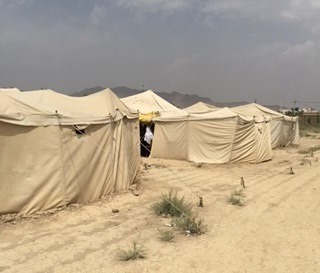 Provisional tent-schools for children in Afghanistan